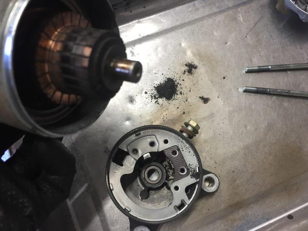YAMAHAXJR400 セルモーター修理 ブラシ交換